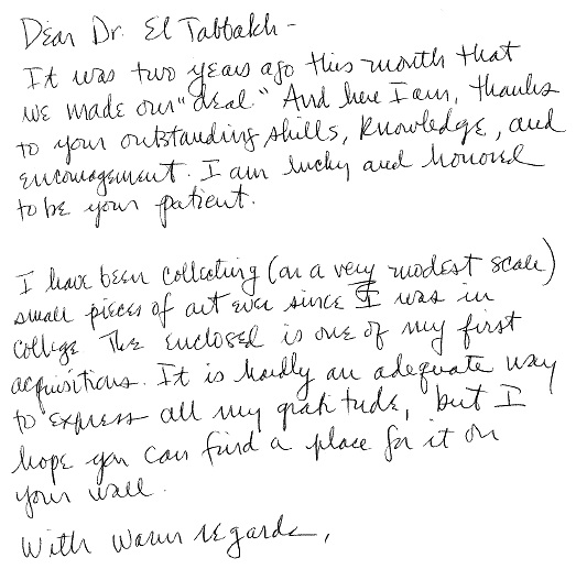 Kind words from our patients